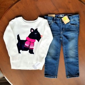 2T Jeans & Sweater Set NWT Carter's Crazy 8